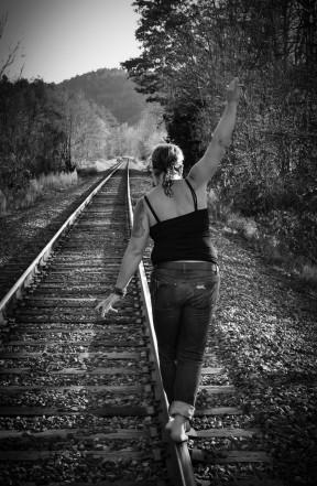 valerie-railroad-bw